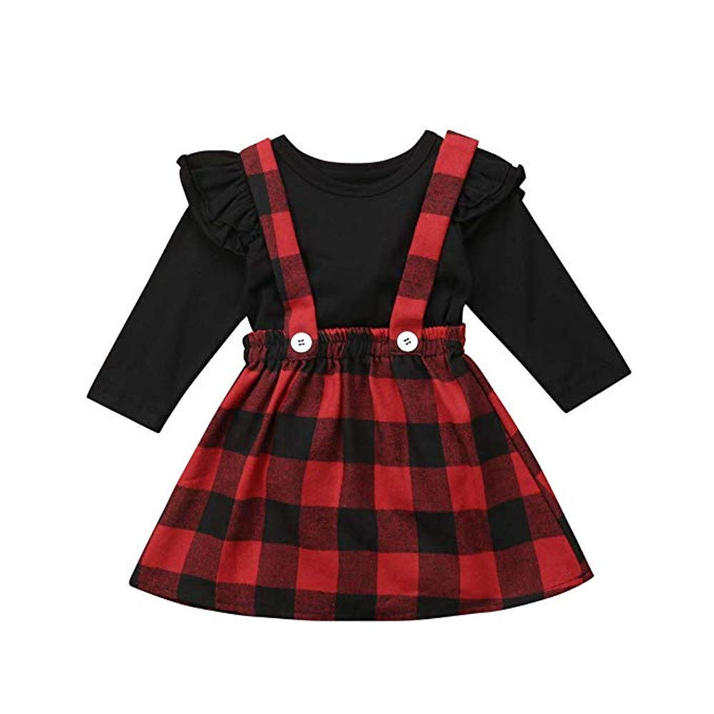 Toddler Baby Girl Dress Floral Rompers Strap Skirt Overall Outfits Clothes