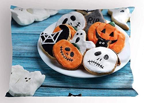 Ustcyla Halloween Pillow Sham, Funny Fresh Halloween Gingerbread