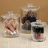 Premium Quality Plastic Apothecary Jars | Set of 3