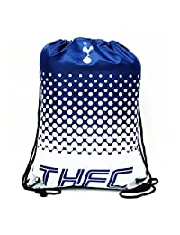 Tottenham Hotspur FC Official Fade Football Crest Drawstring Sports/Gym Bag (One Size) (Navy/White)