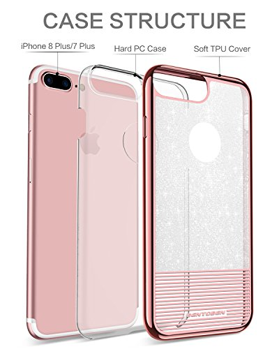 another chance 5ccd1 35be8 iPhone 8 Plus Case, iPhone 7 Plus Case, BENTOBEN Bling Glitter ...