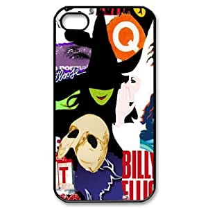 Customize Broadway Collage Design TPU Snap On Case Cover For Iphone 5/5s