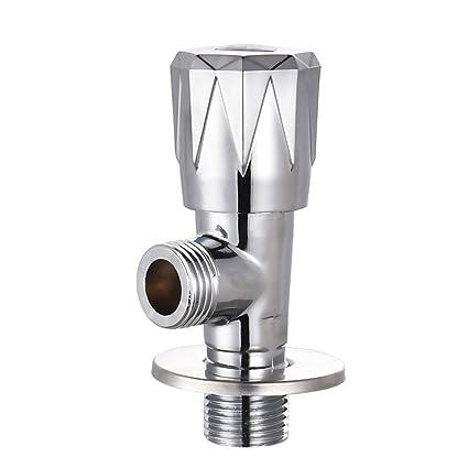 Acero inoxidable Calentador de agua válvulas de ángulo Explosion anti-Cracking caliente y fría cobre