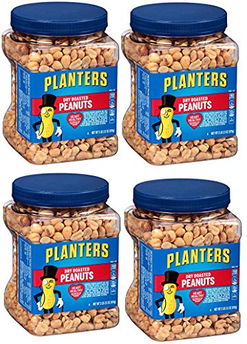 Planters Dry Roasted Peanuts, 34.5 Ounce Container, 12 Tubs by Planters (Image #1)