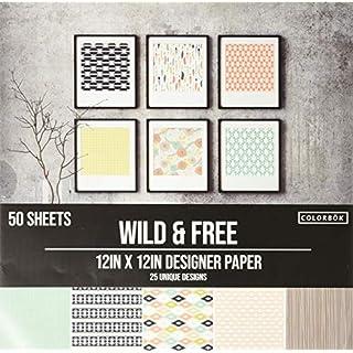 "Colorbok Designer Paper Pad, 12"" x 12"", Wild & Free"