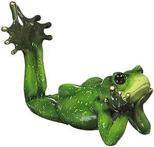 Ganz Wine Bottle Holder - Happy Hour Frogs Lying