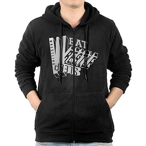 NHTRGB Eat Sleep Wrestle Wrestling Man's Best Fashion Zipper First Quality Hoody by NHTRGB