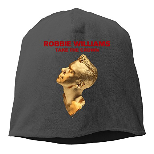 YUVIA Robbie Williams Men's&Women's Patch Beanie RowingBlack Cap For Autumn And Winter