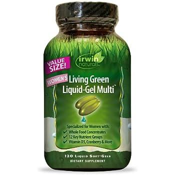 Irwin Naturals Living Green Multi Liquid-Gel for Women, 120 Count