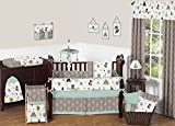 Sweet Jojo Designs 9-Piece Outdoor Adventure Nature Fox Bear Animals Boys Baby Bedding Crib Set