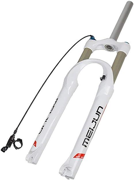 MZP Horquilla Aire 26 Pulgadas Horquilla Suspensión Bicicleta Montaña, Horquilla MTB Cerradura Inteligente Recorrido 100mm (Color : White, Size : 26inch): Amazon.es ...