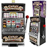Trademark Games Crazy Diamonds Slot Machine Bank With 100 Tokens by Trademark Games