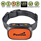 Pawious Bark Collar - [Newest 2019] Rechargeable Anti Bark Collar for Small Medium