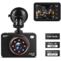 GJT Car Dash Cam TH2 2.7 FHD 1080P Vehicle Accident Video Recorder Super Night Vision 170 Degree Wide Angle On Dash Video,G-Sensor,WDR,Parking Guard,Loop Recording Dashboard Camera Recorder