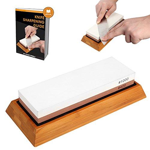 400 Pocket Knife Knives - Whetstone Knife Sharpener,Chef Knife Sharpening Stone,MayPal 400 / 1000 Grit Two-sided Knife Sharpening Stone Within Non-Slip Silicone Knife Sharpening Stone Holder And Bamboo Base