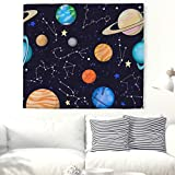 Universe Galaxy Planets Tapestry Wall Hanging Milky Way Wall Tapestry Tapestries Living Room Bedroom Dorm Decor 59x79 Inch