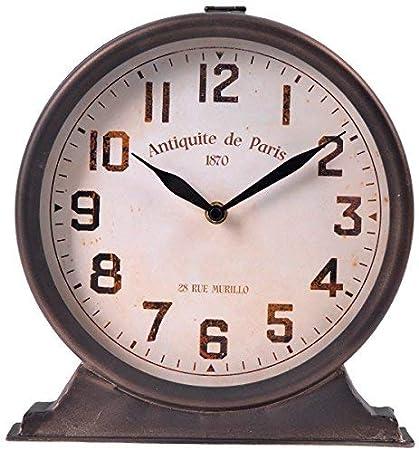 NIKKY HOME Horloge de Table Vintage en M/étal D/écoration pour Maison