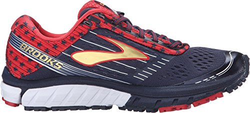 Brooks Women's Ghost 9 Peacoat Navy/True Red/Gold Running shoes - 9.5 B(M) US by Brooks (Image #2)