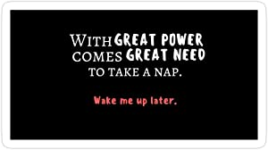 Jess-Sha Store 3 PCs Stickers Nico 'with Great Power Comes Great Need to Take a Nap' Quote, Percy Jackson Sticker for Laptop, Phone, Cars, Vinyl Funny Stickers Decal for Laptops, Guitar, Fridge