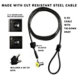 Laptop Computer Lock with Key - Security Cable