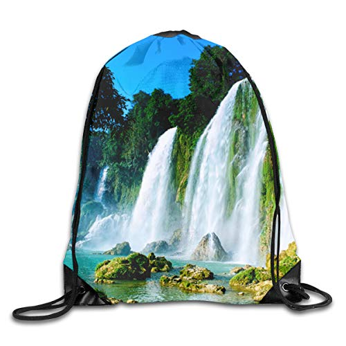 LINSHANGYI Vietnam Beautiful Scenery Drawstring Bags Backpack Novelty
