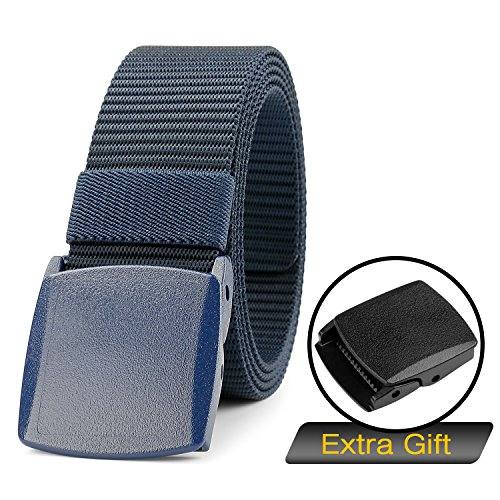 SUOSDEY Tactical Web Belt Outdoor Unisex Nylon belt Military with Plastic Buckle 1.5 inch (Buckle Jeans Belt)