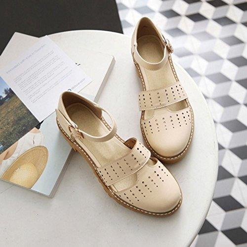 3f205abe ... COOLCEPT Zapatos Moda Al Tobillo Dedo Del Pie Cerrado Bombas Zapato  Tacon Ancho Bajo para Mujer ...