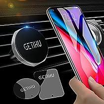 GETIHU Car Phone Mount Universal Air Vent Magnetic Cell Phone Holder for iPhone X 8 7 6s 6 5s 5 Plus Samsung HTC Motorola BlackBerry Smartphone GPS
