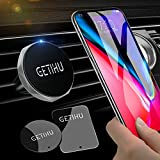 GETIHU Phone Holder for Car, Magnetic Air Vent Car Phone Mount, Universal Cell Phone Car Holder GPS, Compatible with iPhone XS X 8 7 6 6s plus Samsung Galaxy Note 9 S9 Huawei Blackberry HTC Motorola Oneplus etc. (Silver)