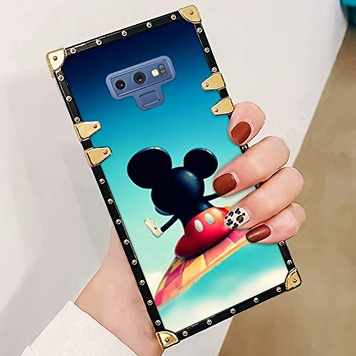 DISNEY COLLECTION Samsung Galaxy Note 9 Case, Disney Cartoon Flying Clouds Mickey Mouse Cute Animal Pattern All-inclusive Elegant Soft TPU Bumper Shock Protective Case Compatible with Samsung Galaxy N