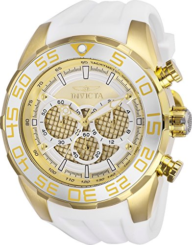 Invicta Men's 'Speedway' Quartz Stainless Steel and Silicone Casual Watch, Color:White (Model: 26303) -  886678316977