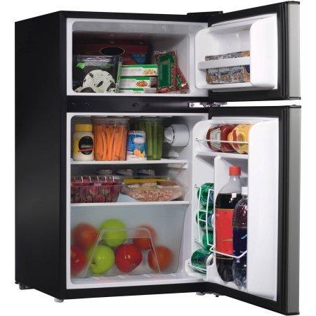 black side by side fridge freezer