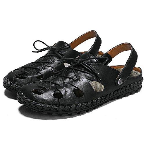 Sandales pour Chaussures Chaussures Hommes Creuses DHFUD Black Plage Summer de 5P0XxT6q