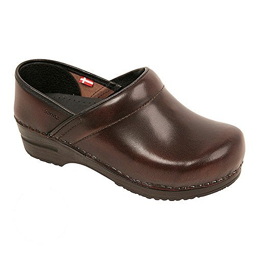 Original By Sanita Men's Cabrio Clog Brush Off Leather Bordeaux