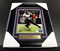 Ed Reed Sb Xlvii Signed Autographed 8x10 Photo #1 Baltimore Ravens Jsa Coa