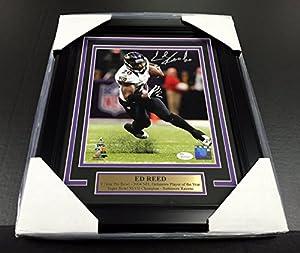 Ed Reed Sb Xlvii Signed Autographed 8x10 Photo #1 Baltimore Ravens Jsa Coa