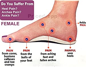 ORTHOTIC FOOT SUPPORT INSOLE FLAT FEET HEELS ARCHES PAIN