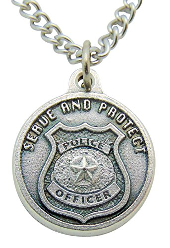 St Michael Police Protection Medal 1 Inch with Stainless Steel Chain & Gift Bag Police Stainless Steel