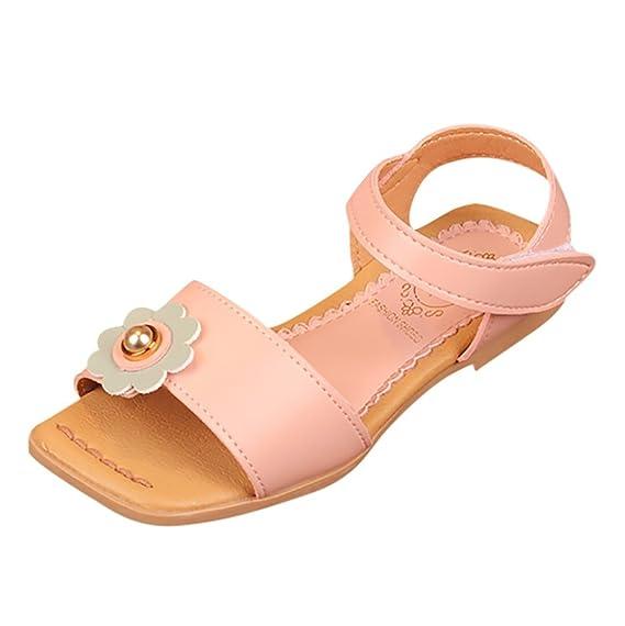 Zapatos de bebé ❤ ️Lonshell Flores Sandalias de Playa Zapatillas de Niñas Sandalias al Aire Libre Zapatos de Princesa Fiesta Diario Primavera, ...