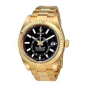 Best Epic Trends 515iMYQFVdL._SS300_ Rolex Sky-Dweller Black Dial Automatic Men's 18kt Yellow Gold Oyster Watch 326938CSO
