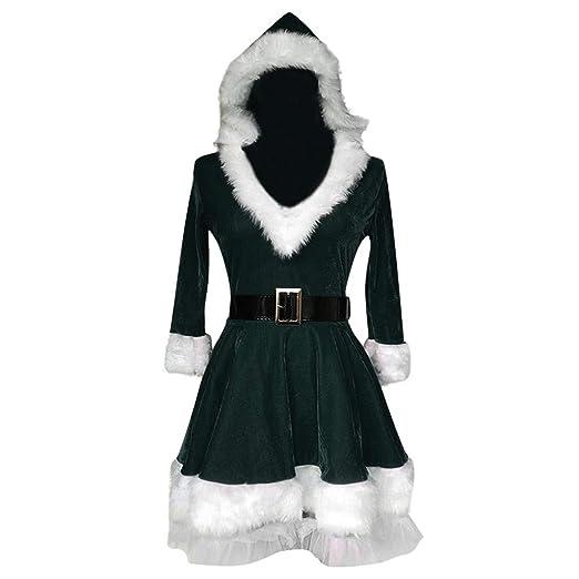jieGorge🎄 Vestidos de Mujer: con Capucha Mangas largas de Navidad ...