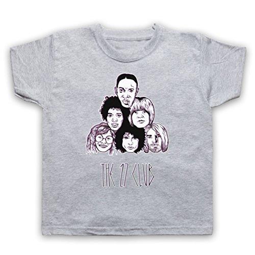 My Icon Big Boys' Dead Musicians 27 Club T-Shirt, Light Grey, 12-13 ()