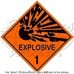 """Explosivo explosión Advertencia de Peligro Señal De Seguridad 4""""(100mm), adhesivo de vinilo"""