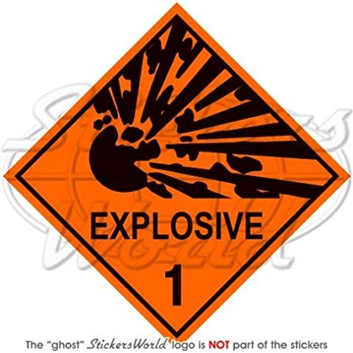100/mm Explosive Explosion Danger Avertissement signe de s/écurit/é 10,2/cm Sticker en vinyle en
