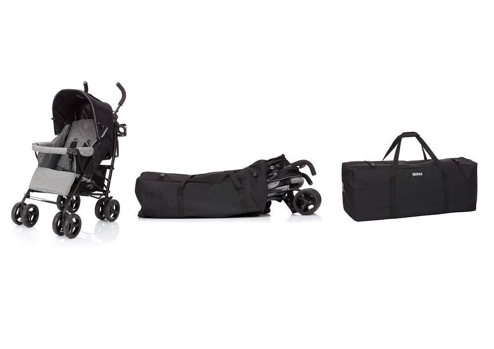 Fillikid Bolsa de transporte negro para asientos de coche, buggys & | funda con correa para cochecito, Shopper Z. B. Joie mytrax litet RAX, tamaño: para ...
