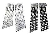 Hook 'n Loop 3/4'' Industrial Strength Black and White Adhesive 500 Dot Roll Complete Bundle