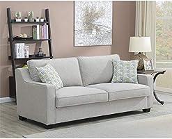 Sensational Amazon Com Emerald Home Berkley Dove Gray Queen Sleeper Dailytribune Chair Design For Home Dailytribuneorg