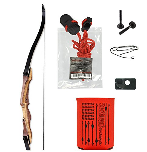 Samick Sage Takedown Recurve Bow Kit by SWA Archery, 25 lb, Right Hand - with STRINGERTOOL: Package Includes Free Drink - Brace Recurve Height Bow
