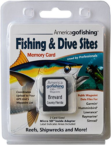 Brevard County Florida - Fishing & Dive Sites Memory Card for Garmin® Humminbird® Lowrance® Raymarine® (Lowrance Mapping Software)
