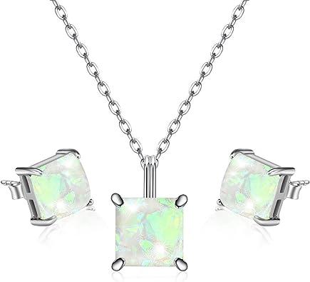 Quartz Women 925 Sterling Silver Necklace Box
